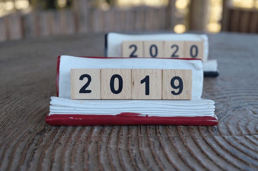 new year, from 2019 to 2020