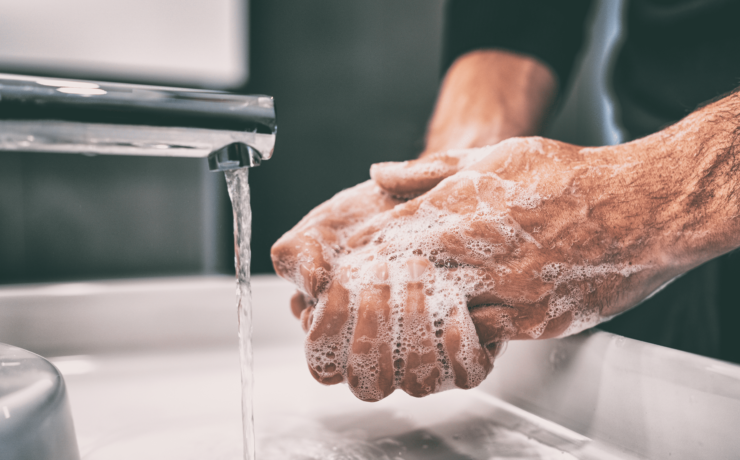 wash hands with soap