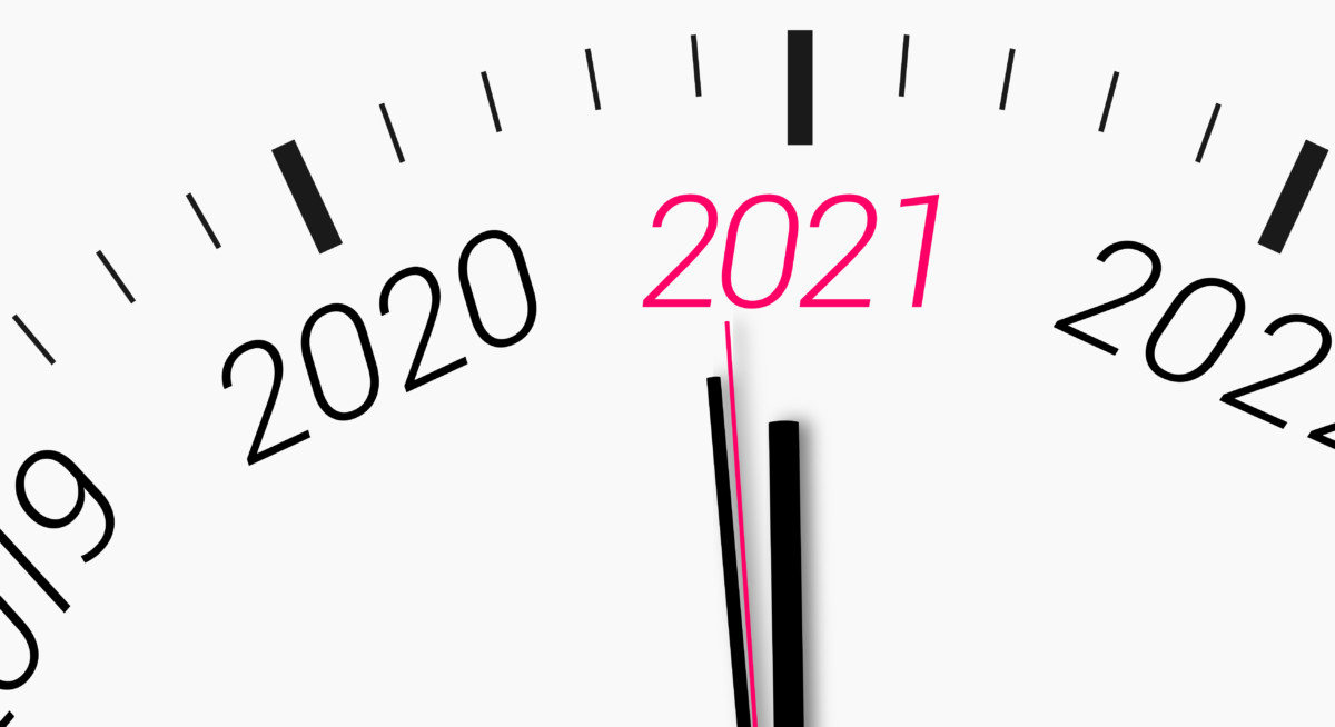 new year from 2020 to 2021