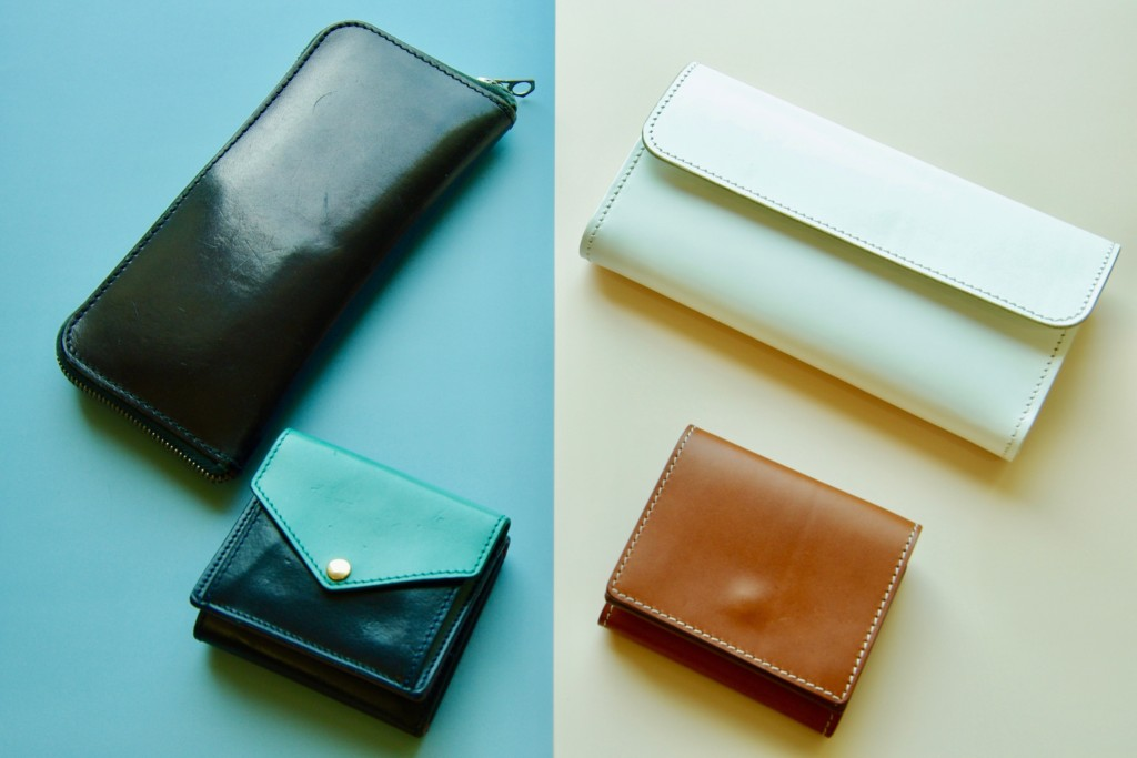 使用済みの財布と新しい財布の比較イメージ