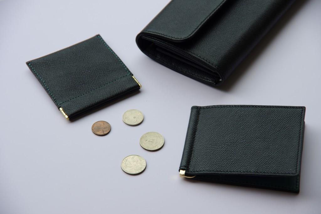 黒の長財布、コインケース、マネークリップ